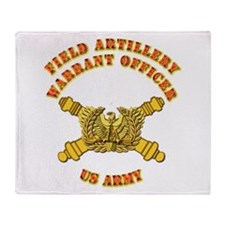 Artillery - Warrant Officer Throw Blanket