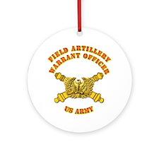 Artillery - Warrant Officer Ornament (Round)