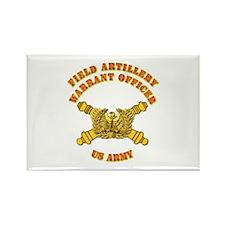 Artillery - Warrant Officer Rectangle Magnet