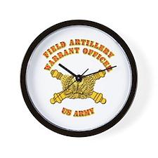 Artillery - Warrant Officer Wall Clock