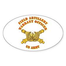 Artillery - Warrant Officer Decal