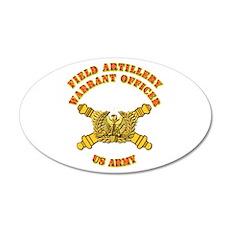 Artillery - Warrant Officer 22x14 Oval Wall Peel