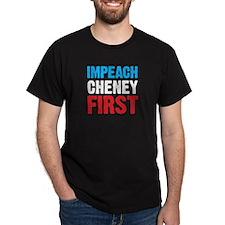 Impeach Cheney Black T-Shirt