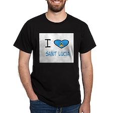 Cute Flag of saint lucia T-Shirt