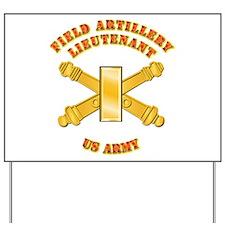 Artillery - Officer - 2nd Lt Yard Sign