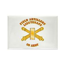 Artillery - Officer - 2nd Lt Rectangle Magnet
