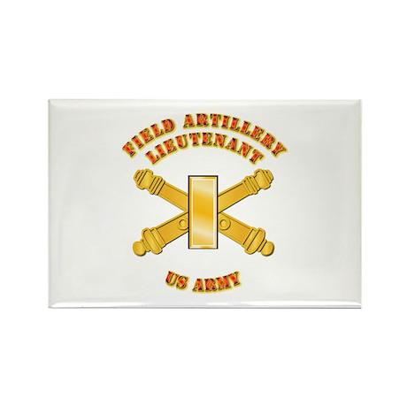 Artillery - Officer - 2nd Lt Rectangle Magnet (100