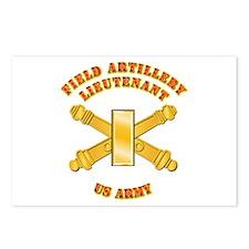 Artillery - Officer - 2nd Lt Postcards (Package of