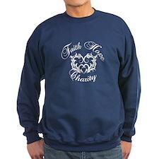 Faith Hope Charity Heart Sweatshirt