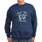 Faith Hope Charity Heart Sweatshirt (dark)