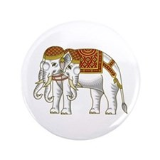 "Thai Erawan White Elephant 3.5"" Button"