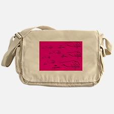 Running Wild in Pink Messenger Bag