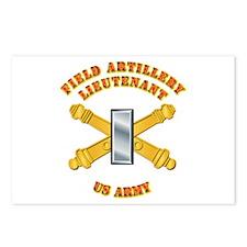 Artillery - Officer - 1st Lt Postcards (Package of