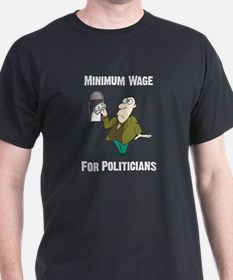 Minimum Wage Black T-Shirt