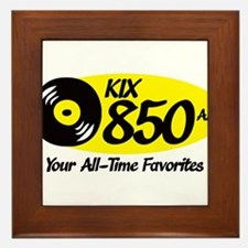 Funny Radio station Framed Tile