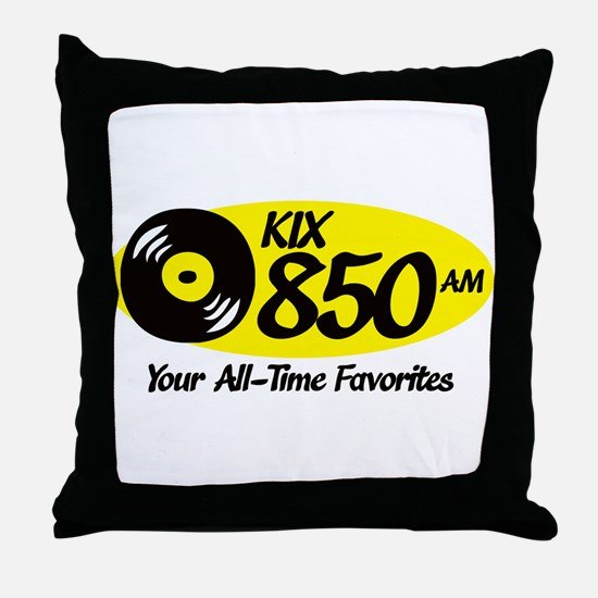 Cute Radio station Throw Pillow