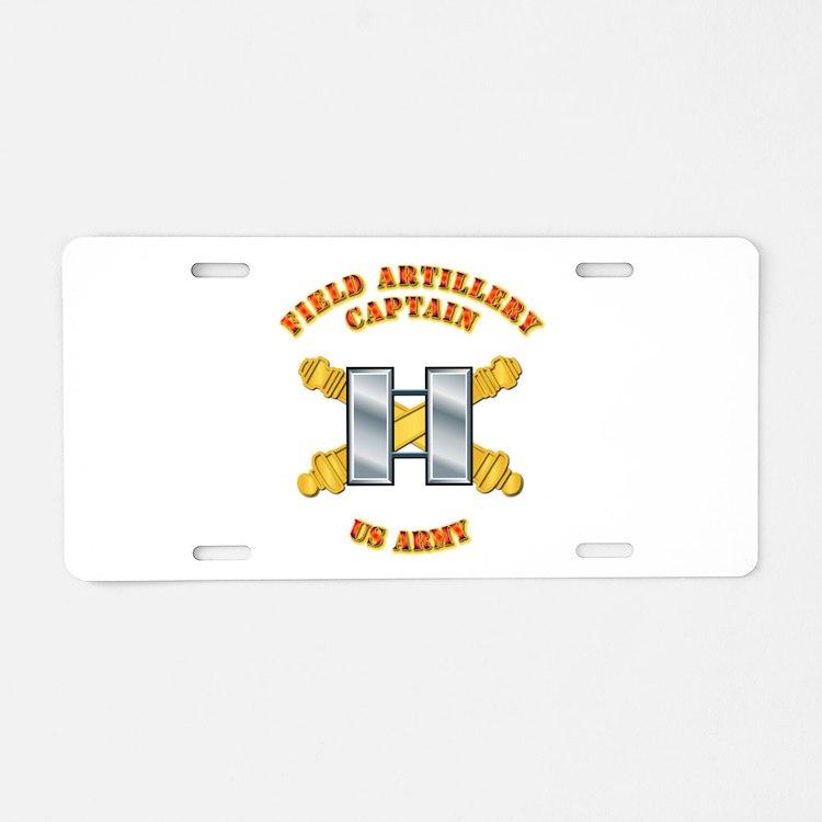 Artillery - Officer - Captain Aluminum License Pla