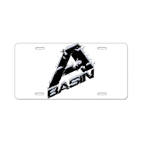 A-Basin Snow Capped Logo Aluminum License Plate
