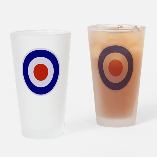 Mod Target Drinking Glass