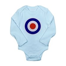 Mod Target Long Sleeve Infant Bodysuit
