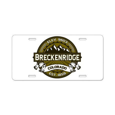 Breckenridge Olive Aluminum License Plate