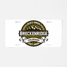 Breckenridge Olive Aluminum License Plate