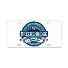 Breckenridge Ice Aluminum License Plate