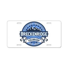 Breckenridge Blue Aluminum License Plate