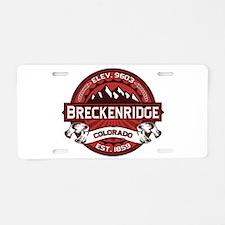 Breckenridge Red Aluminum License Plate