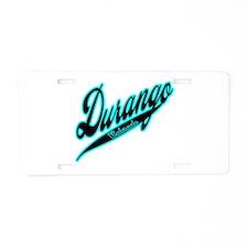 Durango Black Ice Aluminum License Plate