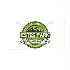 Estes Park Green Aluminum License Plate
