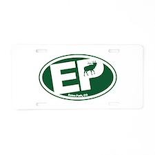 Estes Park Elk Logo Aluminum License Plate