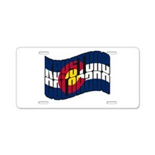 Keystone CO Flag Aluminum License Plate