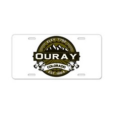 Ouray Olive Aluminum License Plate