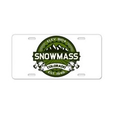 Snowmass Olive Aluminum License Plate