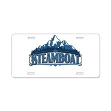 Steamboat Blue Mountain Aluminum License Plate