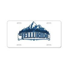 Unique Skier Aluminum License Plate
