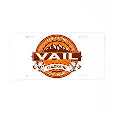 Vail Tangerine Aluminum License Plate