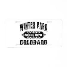 Winter Park Since 1978 Black Aluminum License Plat