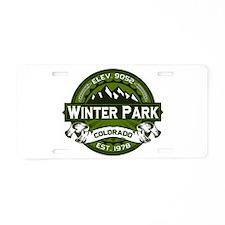 Winter Park Olive Aluminum License Plate