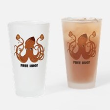 Free Hugs Squid Drinking Glass