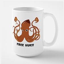 Free Hugs Squid Large Mug