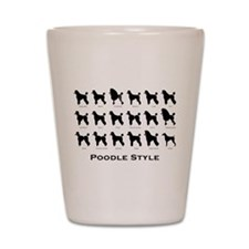 Poodle Styles: Black Shot Glass