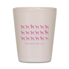 Poodle Style: Pink Shot Glass
