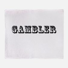 Gambler Throw Blanket