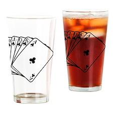 Royal Flush Drinking Glass