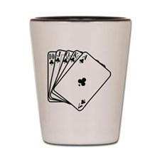 Royal Flush Shot Glass