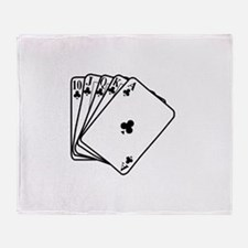 Royal Flush Throw Blanket