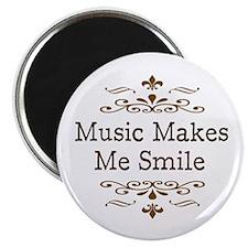 "'Music Makes Me Smile' 2.25"" Magnet (10 pack)"