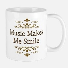 'Music Makes Me Smile' Mug